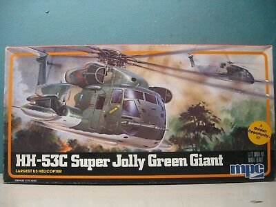 Vintage Mpc 1/72 Hh-53C Super Jolly Green Giant Helicopter   #1-4401