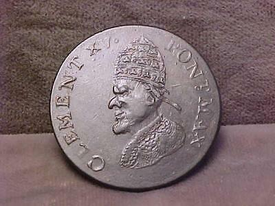"""U.S. Colonial Regal Evasion 1/2 Penny """"Pope Clement"""" Coin ca 1780"""