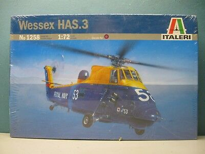 Italeri 1/72 Wessex Has.3  Helicopter  #1258