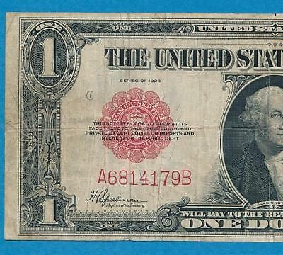 $1.00  Fr.40 1923 Legal Tender  Red Seal  United States Note