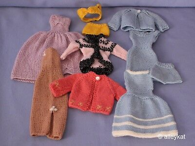 Vintage Barbie Mommy Made Clothing Lot, 10 Piece, Knits