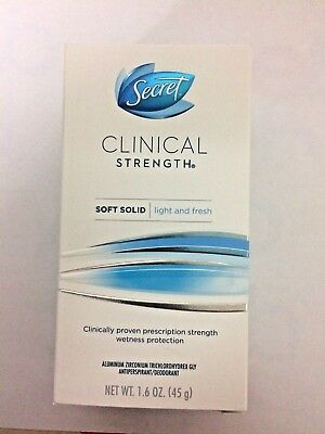 Secret Clinical Strength Soft Solid Women's Light & Fresh Scent 1.6 Oz