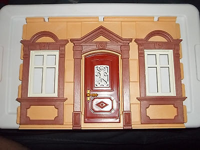 PLAYMOBIL,Victorian House/Mansion,FRONT WALL SECTION with DOOR & WINDOWS
