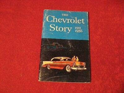 1911-1956 The Chevrolet Story Original Brochure Showroom Book Old Vintage Chevy