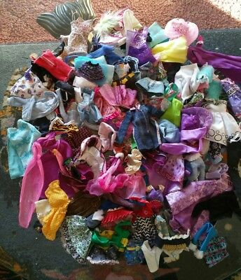 Doll Clothes~ Mixed Lot Over 100 Pieces ~ Barbie and other small dolls