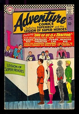 ADVENTURE COMICS #346  1st KARATE KID VG 1966  COMIC KINGS