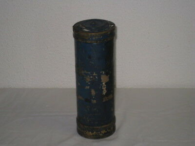 Vintage Unknown Solid Brass Heavy Duty Cylinder with Screw Top