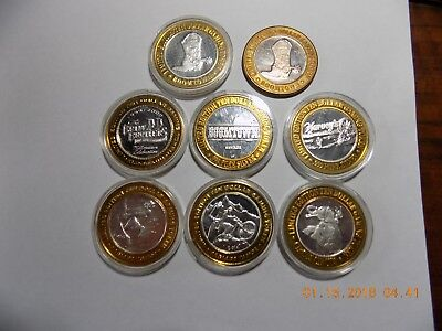 (8) Silver Casino Strikes - Most are Gem BU's in Capsules - Excellent Group!