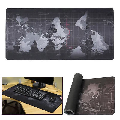 Anti-Slip World Map Speed Game Mouse Pad Gaming Mat Large XL Size For Laptop PC