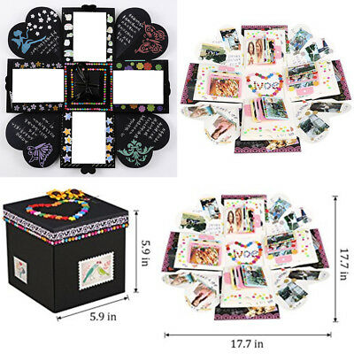 DIY Creative Paper Explosion Surprise Box Scrapbook Photo Album Set Gift Toy Hot