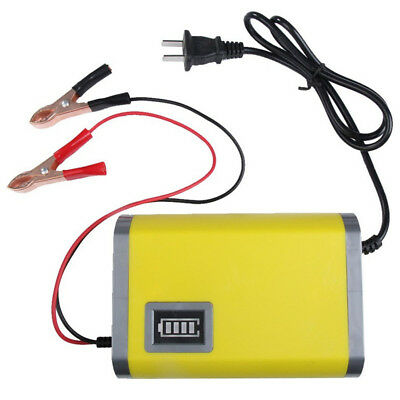 Portable Intelligent Car Truck Battery Charger 12V 6A Adapter Power With US plug