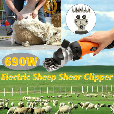 690W Electric Shearing Clippers Shears Sheep Goat Animal Trimmer Farm Machine