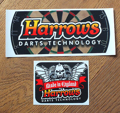 2 Aufkleber Sticker Harrows Darts  (S143)