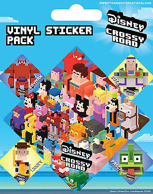 Crossy Road - Characters - Stickerset Aufkleber 10x12,5 cm mit 5 Sticker
