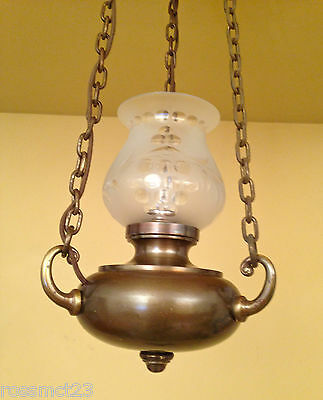 Vintage Lighting matched pair early electric pendants circa 1915