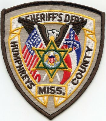Humphreys County Mississippi Ms Sheriff Police Patch