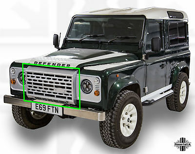 Silver Adventure edition style front grille for Defender adventura puma svxl