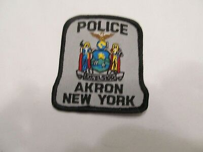 New York Akron Police Cap Patch Obsolete