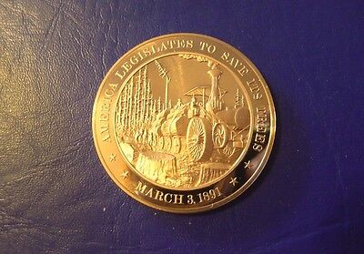 1891 Save The Trees- Franklin Mint Solid Bronze Commemorative Medal