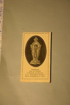 Santino Holy Card Bambagia S. Francesco Saverio  (ao77) ^