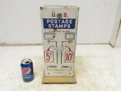 Vintage U.S. Postage Stamp Machine Co. Stamp Vending Dispenser 5 & 10 Cent