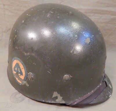 WWII / WW2 U.S. Army 44th Infantry Division, 130th Inf. Regiment M1 Helmet Liner