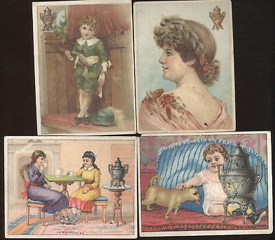 Lot Of 4 Small T.c. Advertising Dilworth's Coffee