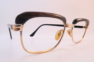 Vintage 60s eyeglasses frames gold filled AMOR size 52-20 140 made in France