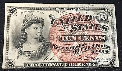 Fractional Currency FR 1261 CU 10 Cent P-34