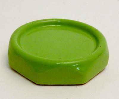 Vtg Mid Century Jadeite Green Porcelier Bathroom Porcelain Ceramic Cup Holder