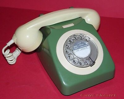 VINTAGE BT / GPO ROTARY DIAL TELEPHONE * Tested / Working * Phone * 746 *