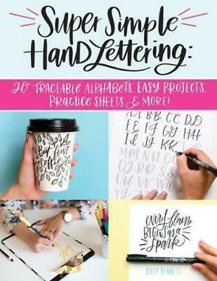 Super Simple Hand Lettering by Kiley Bennett Paperback Book Free Shipping!