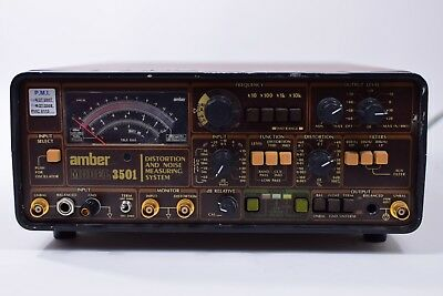 Vintage Amber Model 3501 Distortion Analyzer and Noise Measuring System