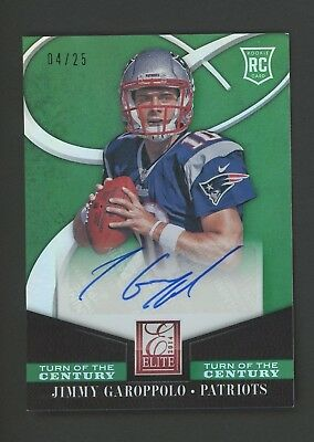 2014 Elite Turn of The Century Green Jimmy Garoppolo Patriots RC AUTO /25