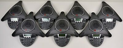 Lot of (7) Polycom SoundStation IP 6000 Conference VoIP Phones - 2201-15600-001