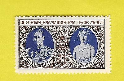 1937 CORONATION SEAL STAMP - GEORGE VI - ELIZABETH - DAUGHTERS of the EMPIRE