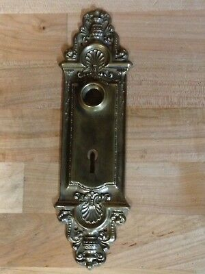 Antique Vintage  Brass Victorian Door Knob Lock Keyhole Plate Part