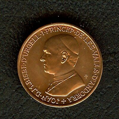 Andorra 1986 25 Centims Km#33  Exceptional Uncirculated Red