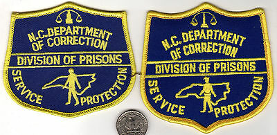POLICE PATCH LOT of 2 Patches STATE NORTH CAROLINA Prison 2 variations