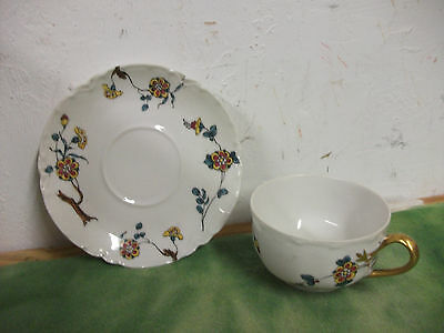 Vintage  Fine French  China Tea Cup & Saucer  made by Haviland  Lot # RO.