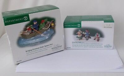 Dept.56 Dickens Village Accessories: Bringing Christmas Cheer Boat & Good Catch