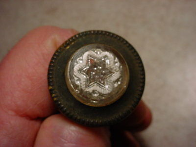 Antique Victorian Picture Nail #4 Of 6 Glass Sulphide Star Neat!!