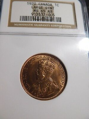 S113 Canada 1920 Large Cent NGC MS-65 Red Brown