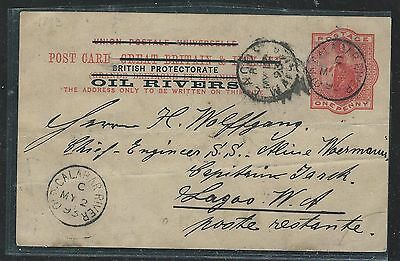 Niger Coast Oil Rivers (P2709B) 1893   Qv Psc To Lagos   With Msg