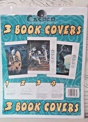 Vintage 1995 School Book Covers*Cartoon CASPER The Ghost*Set of 3*Paper*NEW!