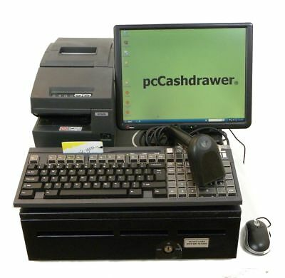 Basic but Tough Clean POS or Point of Sale Cash Register w/POS Software & Win XP