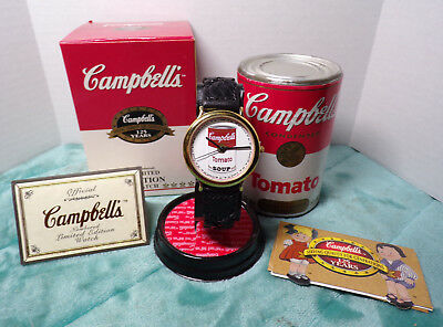 Campbell's ~ 125 Years ~ Limited Edition Watch ~ 1869/20K ~ New ~ 1994 ~ Leather
