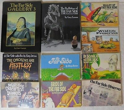 Lot of 10 The Far Side series Gary Larson 1 hc 9 pbs comic strip books