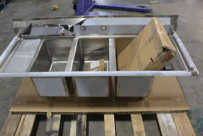 Advance Tabco 64 in W x 25 1/2 in D 3 Compartment Sink K7-C9-32