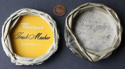 1970s Whirlpool Trash Masher-Compactor relic advertising 2 (TWO!) ashtray set!